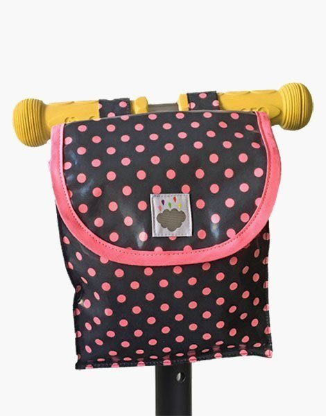Sac à guidon Dots rose